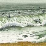 "Seascape (16.75"" x 6.75"")"
