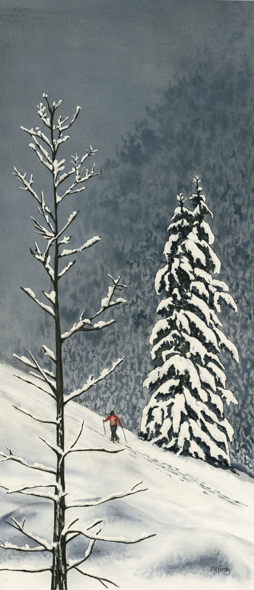 """Snowscape (6.75"""" x 16.75"""")"""